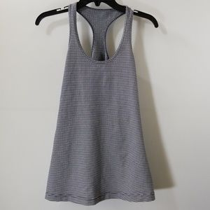 Lululemon Athletica Navy/White Checked Tank Top